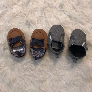 2 pairs baby boy shoes